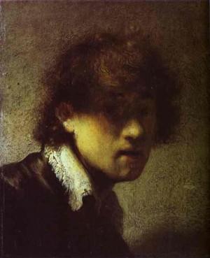 렘브란트가 젊은 시절 그린 자화상(1629년 작)